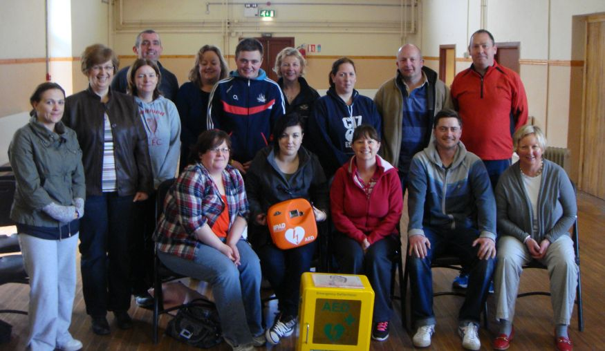 Community Members from Liscarroll, Co. Cork with their new AEDs and Heated Outdoor AED Cabinets from EireMed at our Training Day