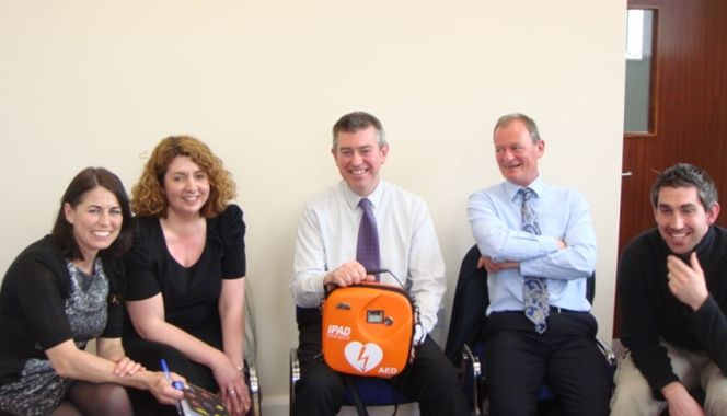 The Staff of St Joseph's Secondary School, Fairfield, Co. Dublin receiving their AED and Training from EireMed