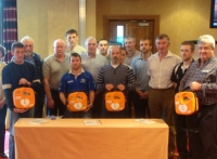 Members from the Irish Tug of War Association receiving 4 X AEDs and Training From Eiremed
